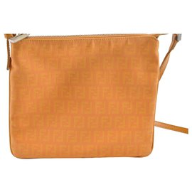 Fendi-Fendi Zucca Shoulder Bag-Orange