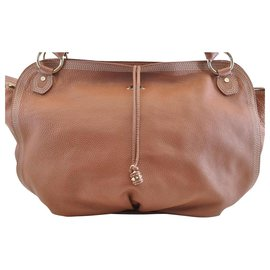 Céline-Céline Vintage Shoulder Bag-Brown