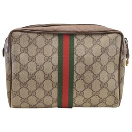 Gucci-Gucci Sherry Line GG Pochette-Marron