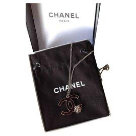 Chanel-Collier camélia-Argenté
