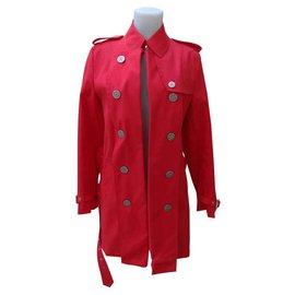 Burberry-Burberry coat-Red