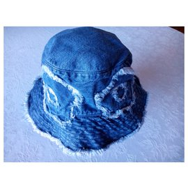 Moschino-Bonnet MOSCHINO en Jean-Bleu
