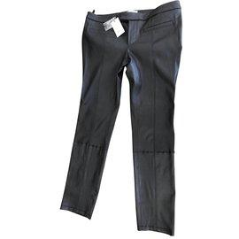Helmut Lang-Prologue stretch Lambleather 2 Pantalon-Noir