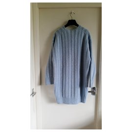 Céline-New with tag Céline powder-blue wool sweater in size S.-Blue