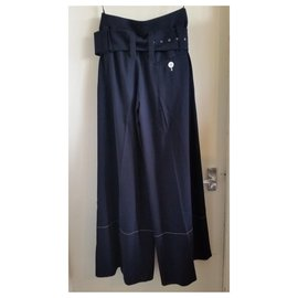 Céline-New with tag Céline wool culottes.-Navy blue