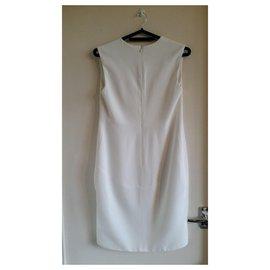 Céline-New with defect Céline white sleeveless sheath dress.-Cream