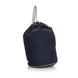 Hermès-Hermès Bleu Canevas Polochon Mimile-Bleu,Bleu Marine
