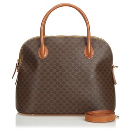 Céline-Celine Brown Macadam Satchel-Brown