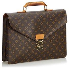 Louis Vuitton-Serviette Conseiller Louis Vuitton Monogram Marron-Marron