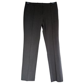 Céline-Sublime cotton twill trousers CELINE 42 BLACK ANTHRACITE-Dark grey