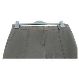 Céline-Sublime cotton twill trousers CELINE 42 BLACK ANTHRACITE-Dark grey