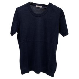 Moncler-Navy blu knitwear top-Navy blue