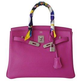 Hermès-SAC HERMES BIRKIN 30 MAGNOLIA-Rose