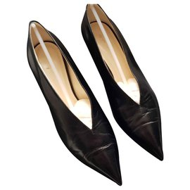 Céline-V Neck Pump 50 MM-Black