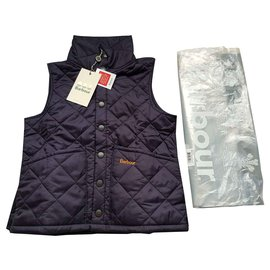 Barbour-Barbour blue quilted vest-Navy blue
