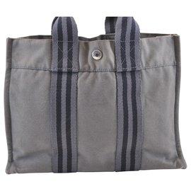 Hermès-Hermès Fourre Tout-Grey
