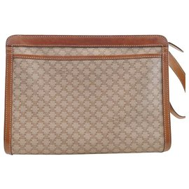 Céline-Céline Macadam Clutch Bag-Brown