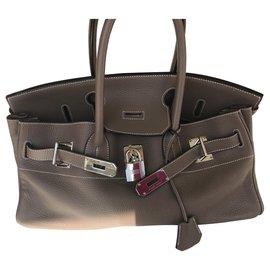 Hermès-Hermes Birkin shoulder-Taupe