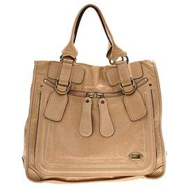 Chloé-Chloe Brown Leather Bay Tote-Brown,Light brown