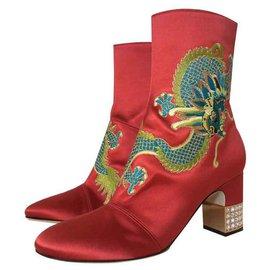 Gucci-Bottines Gucci-Rouge
