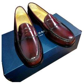 Cole Haan-Loafers Slip ons-Dark red