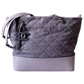 Chanel-CHANEL CABAS SHOPPING-Gris