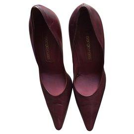Sergio Rossi-sergio rossi court shoe-Dark red