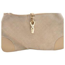 Gucci-Gucci Sherry Line GG Hand Bag-Beige