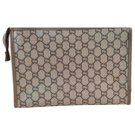 Gucci-Gucci Sherry Line GG Clutch Bag-Brown