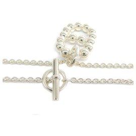 Hermès-Hermes Silver Chaine Collier D'Ancre-Argenté