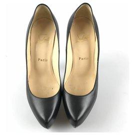 Christian Louboutin-Christian Louboutin Black Leather Daffodile 160-Black