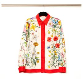 Gucci-FLORA RED FR36-Rouge,Écru