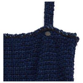Chanel-NAVY TWEED FR40/42-Bleu Marine