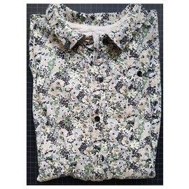 Bonpoint-Bonpoint - Sommerkleid-Weiß,Blau,Grün