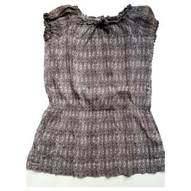 Bonpoint-Bonpoint - Summer Dress-Grey,Purple
