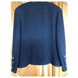 Chanel-Vintage Chanel T Jacket40-Navy blue