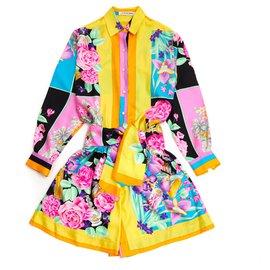 Leonard-SILKY FLOWERS FR36-Multicolore