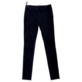 Prada-Pantalon-Bleu Marine