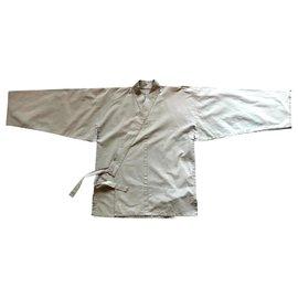 Autre Marque-Veste kimono samue kaki clair unisex Taille L-Kaki