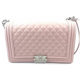 Chanel-Chanel Pink Lambskin Medium Boy-Pink