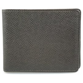 Louis Vuitton-Louis Vuitton Brown Taiga Bi-fold Wallet-Brown,Dark brown