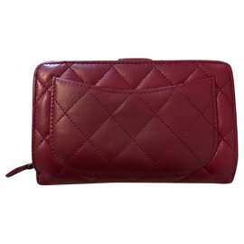 Chanel-Classic wallet-Dark red