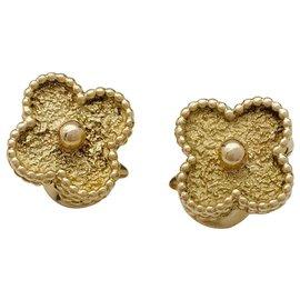 """Van Cleef & Arpels-Boucles d'oreilles """"Vintage Alhambra"""" en or jaune.-Autre"""
