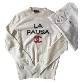 Chanel-Chanel La Pausa Sweater-White