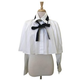 Chanel-TOP BLOUSE CHANEL PARIS SEOUL-Blanc
