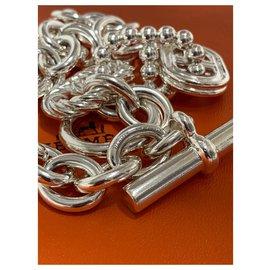 Hermès-HERMES Collier Parade Chaine d'Ancre-Beige