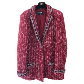 Chanel-Beautiful stunning Chanel veste-Dark red