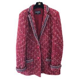 Chanel-Superbe veste Chanel-Bordeaux