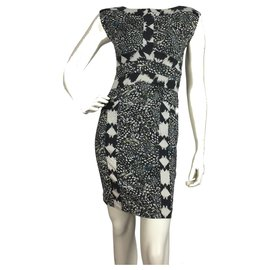 Diane Von Furstenberg-Mini robe en jersey de soie-Multicolore