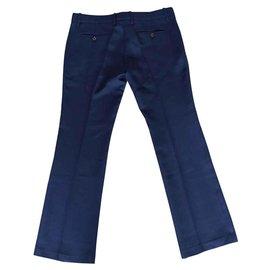 Gucci-Pantalons, leggings-Bleu foncé